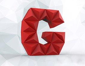 3D printable model Lowpoly letter G