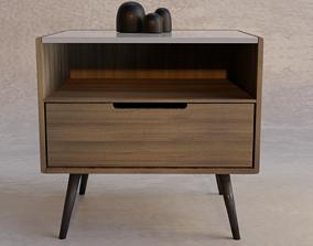wooden nightstand 3D
