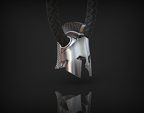 3D print model Spartan helmet Pendant Bead