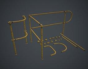 3D model Modular Handrails PBR Game Ready