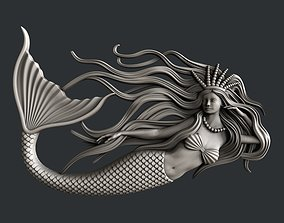 vcarve 3d STL models for CNC router Mermaid