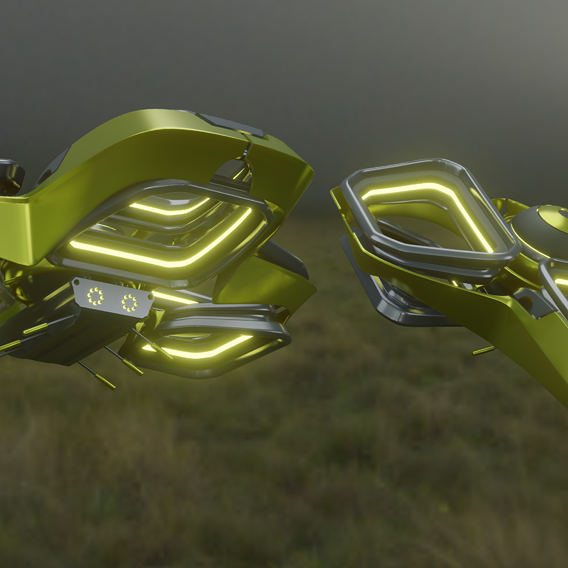 Drone quadcopter Space 3D model