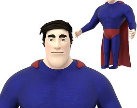 3D model superhero character