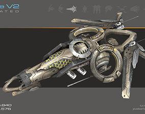 3D asset Drone V2 SciFi - Animated