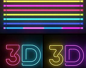 Neon lights 3D model