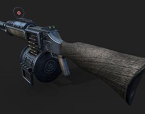 3D model realtime machine gun