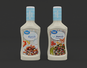 3D model Great Value Ranch Dressing and Dip