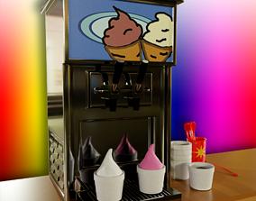 3D Soft Serve Ice Cream Machine