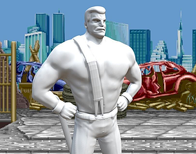 3D print model Mike Haggar from Final Fight