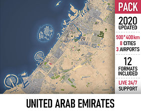 United Arab Emirates - UAE - all cities 3D model