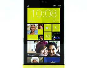 3D model HTC Windows Phone 8S Yellow