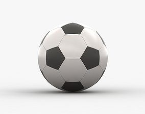 3D asset realtime game Soccer Ball