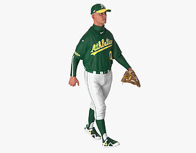 3D model Baseball Player Rigged Athletics