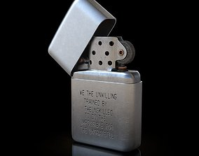 smoking Zippo Lighter 3D model
