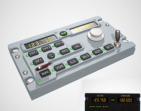 RADIO Panel 3D asset