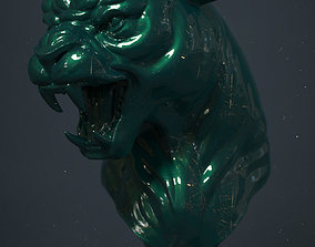 3D printable model sculptures Panther