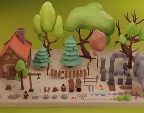 Low Poly Fantasy Forest Pack Vol 2 3D asset