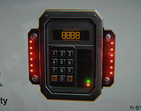 3D asset VR / AR ready Sci-fi Security Keypad