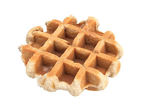 Photorealistic Waffle 3D Scan
