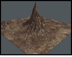 Mountain 3D asset low-poly PBR