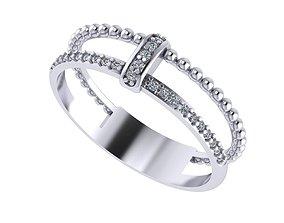 Diamond ring 3D print model gift