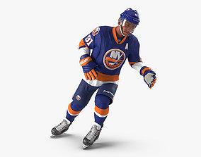 Hockey Player Islanders Rigged for Maya 3D model