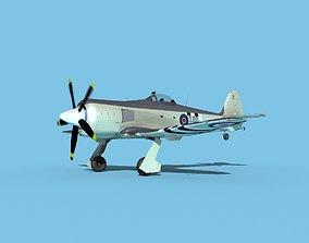 Hawker Sea Fury MKII V01 RN 3D