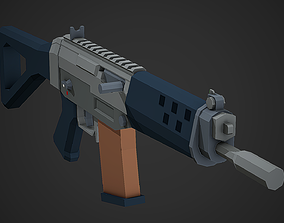 Stylized Sig Sg 552 Low Poly Mobile Ready 3D asset