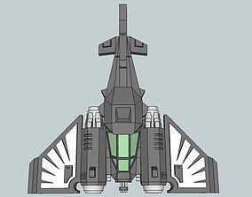 3D printable model 6mm DarkClaw Sci-Fi Fighter-Bomber