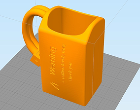 Lipo Battery Coffee Cup 3D print model