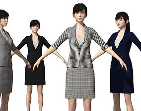 Asian Businesswoman for Maya 3D model