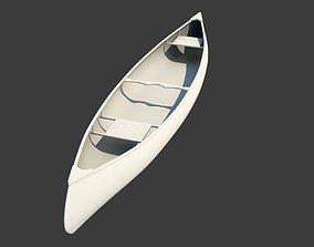 3D RedWood Canoe