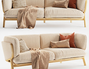 3D STANLEY Wide 2 Seat Sofa