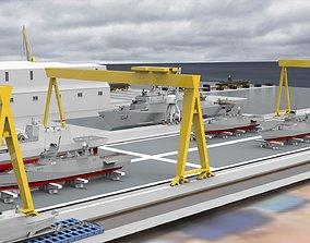 3D model animated Shipyard Full set