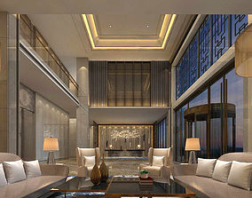 office reception hall design complete 07 3D