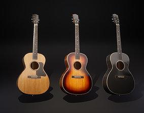 3D asset low-poly Acoustic guitar