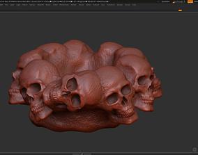 Skull Ashtray 3d print model