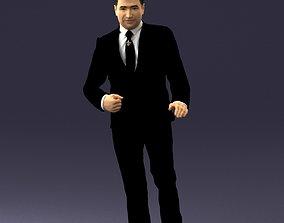 3D model Brunette in black suit 0479