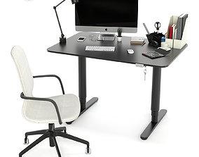 3D model IKEA office workplace