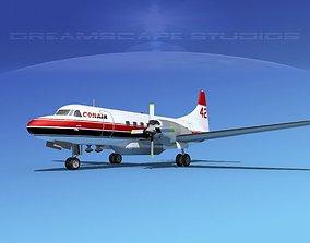 3D model Convair CV-580 Conair Firefighter