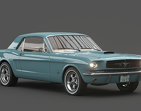 Ford Mustang 1966 muscle-car 3D