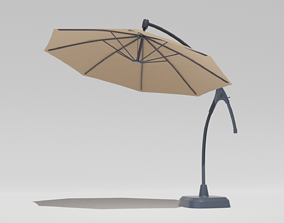 cantilever patio umbrella 3D