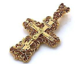 Cross with diamonds 006 ring 3D printable model