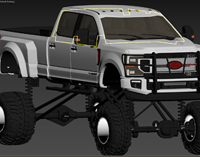 3D asset 2020 ford f350
