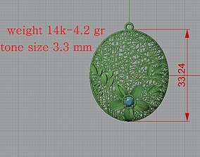 Ultra Lighter Heart Pendant 10 Jewelry 3D print model