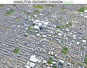 Hamilton Ontario Canada 60km 3D asset