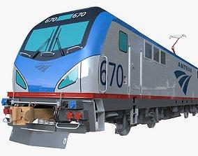 Siemens acs-64 locomotive 3D