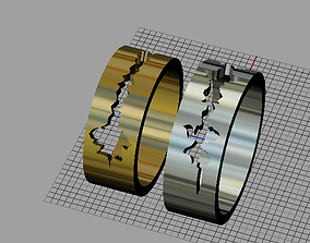 3D print model cardiogram ring