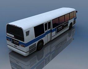 3D model US Style Bus