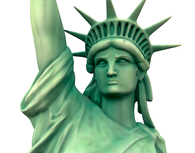 america 3D model Statue of The liberty